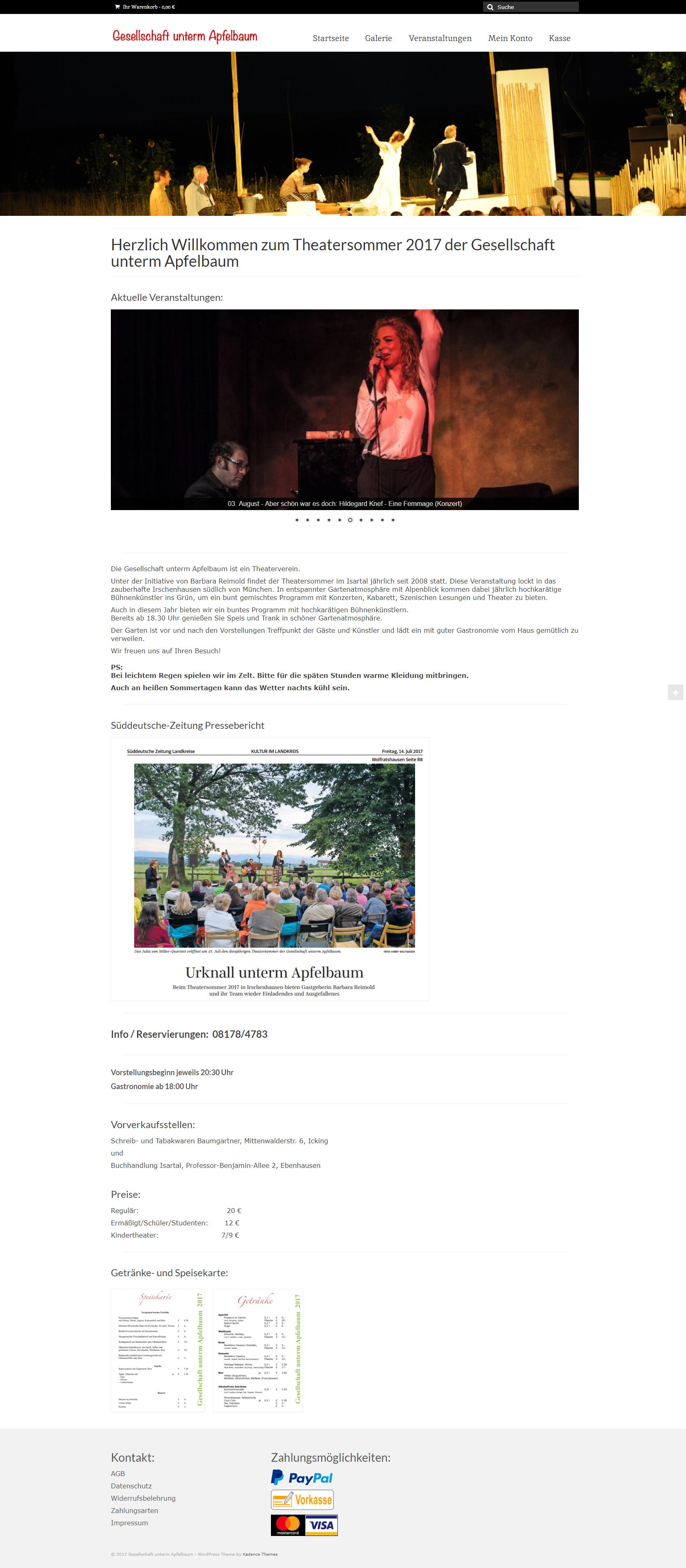 Webseite Gesellschaft unterm Apfelbaum