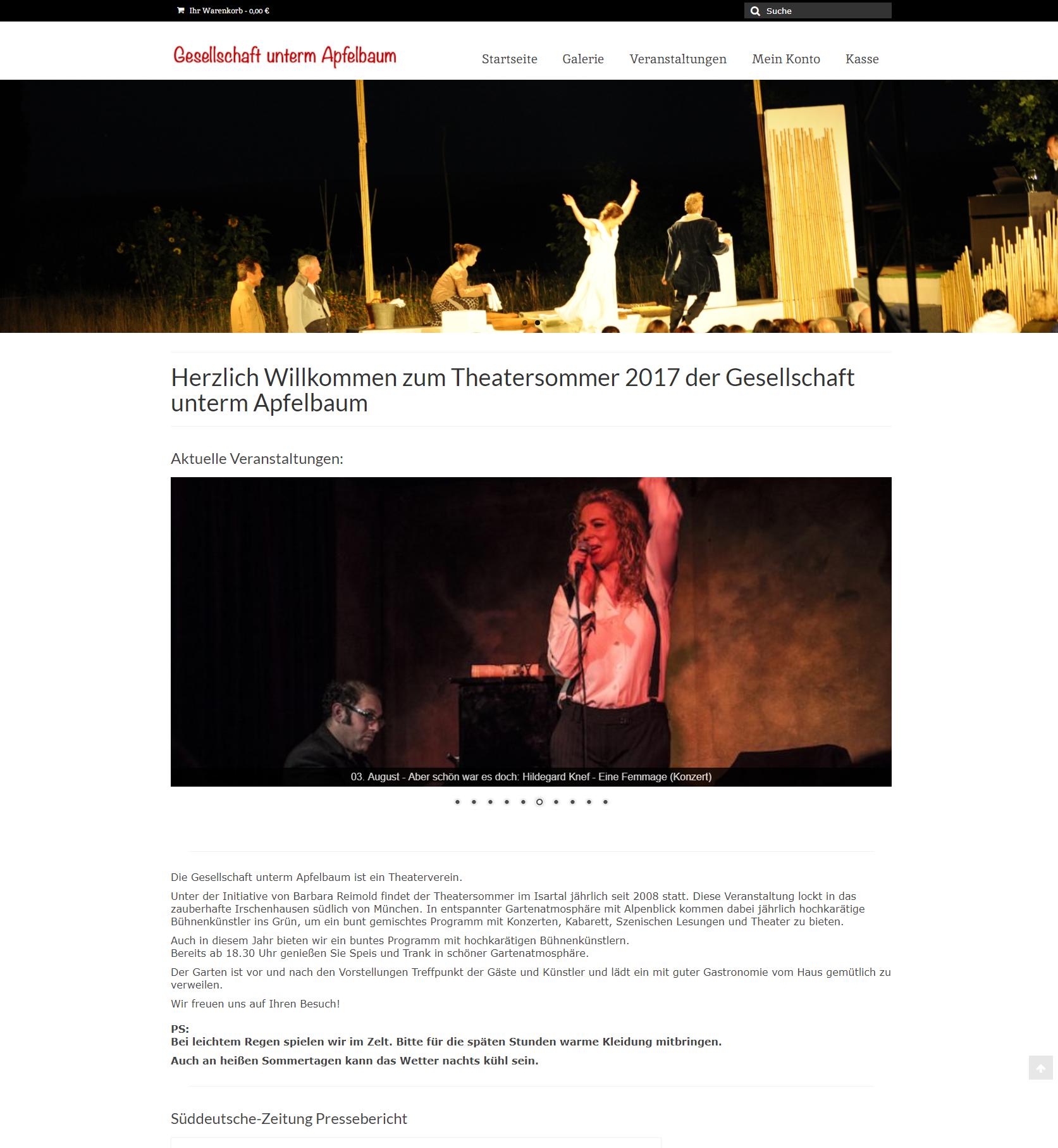 Homepage für Gesellschaft unterm Apfelbaum Icon