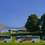 Watzinger Reisebusse hintereinander bearbeitet