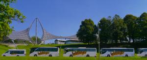 Watzinger Reisebusse hintereinander