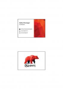 Penninger Bärwurz Visitenkarte